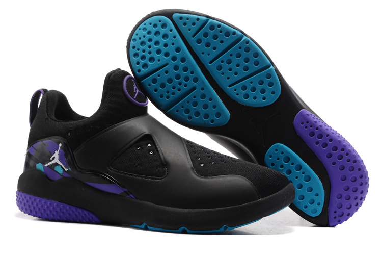 Wholesale Cheap Air Jordan 8 Trainer Essential Black Purple Blue For Sale - www.wholesaleflyknit.com
