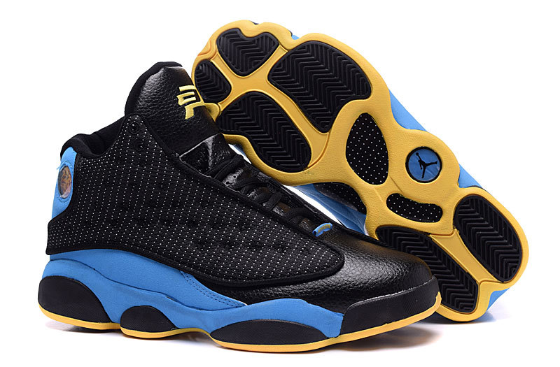 Wholesale Cheap Air Jordans 13 CP3 Away PE Black Sunstone-Orion Blue For Sale - www.wholesaleflyknit.com
