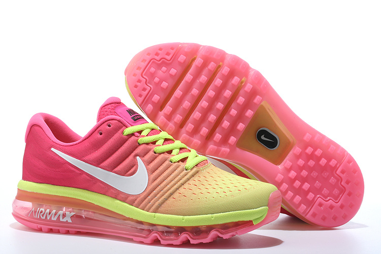 Wholesale Cheap Air Max 2017 Women Fluorescent Green Pink White - www.wholesaleflyknit.com