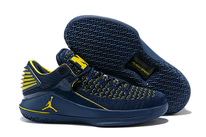 New 2018 Air Jordans Cheap Wholesale x Air Jordan XXX2 Navy Blue Yellow - www.wholesaleflyknit.com