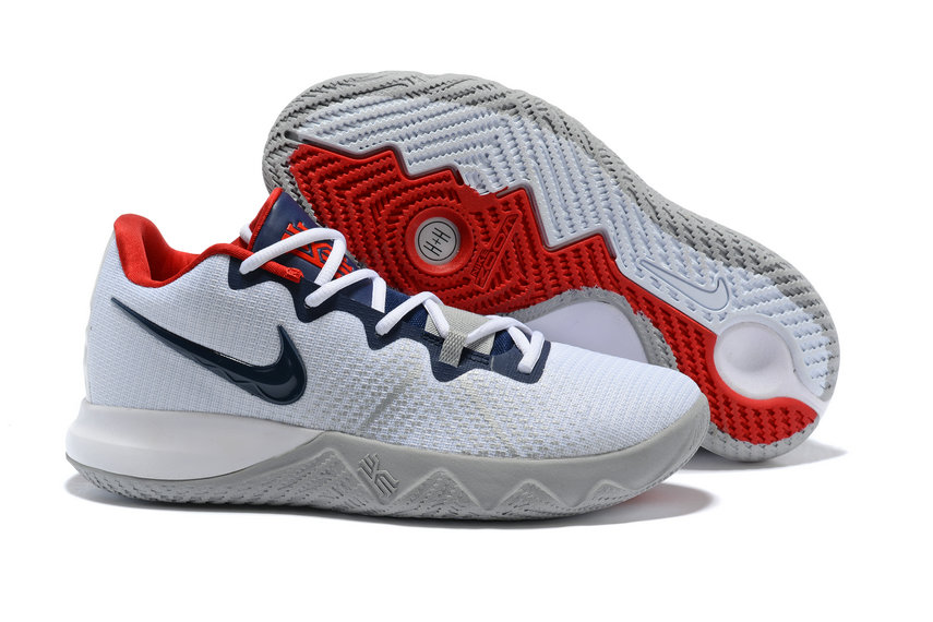 Wholesale Cheap Kyrie Irvings Nike Kyrie Flytrap Blue White Red - www.wholesaleflyknit.com