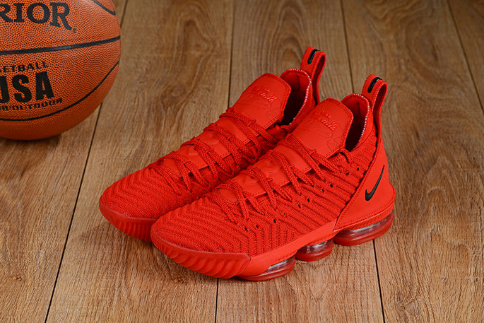 Cheap Lebron 16 Shoes Total Red- www.wholesaleflyknit.com