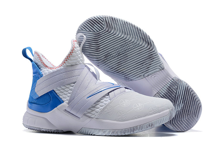 Cheap Lebron Soldier 12 Blue Light Grey- www.wholesaleflyknit.com
