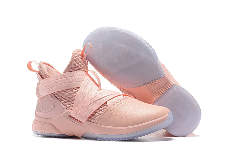 Cheap Lebron Soldier 12 Pink Bright- www.wholesaleflyknit.com