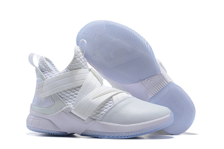 Cheap Lebron Soldier 12 Total White- www.wholesaleflyknit.com