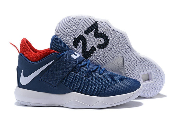 New 2018 Nike Lebron Cheap Wholesale x Nike LeBron Ambassador 10 Navy Blue Red White - www.wholesaleflyknit.com