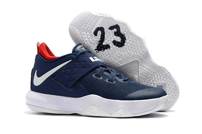 New 2018 Nike Lebron Cheap Wholesale x Nike LeBron Ambassador 10 Navy Blue White - www.wholesaleflyknit.com