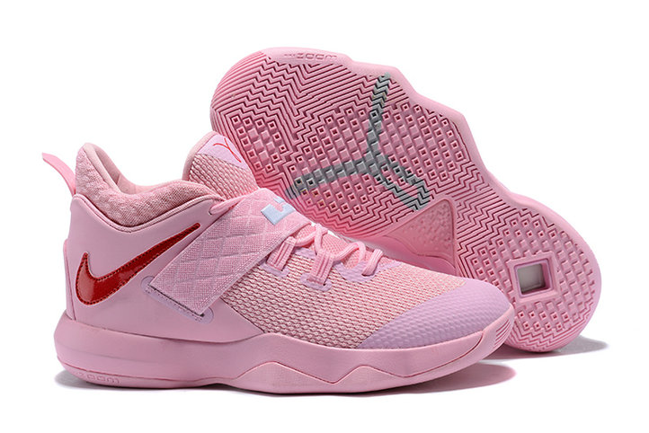 New 2018 Nike Lebron Cheap Wholesale x Nike LeBron Ambassador 10 Pink Red - www.wholesaleflyknit.com