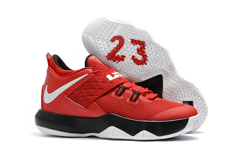 New 2018 Nike Lebron Cheap Wholesale x Nike LeBron Ambassador 10 Red White Black - www.wholesaleflyknit.com