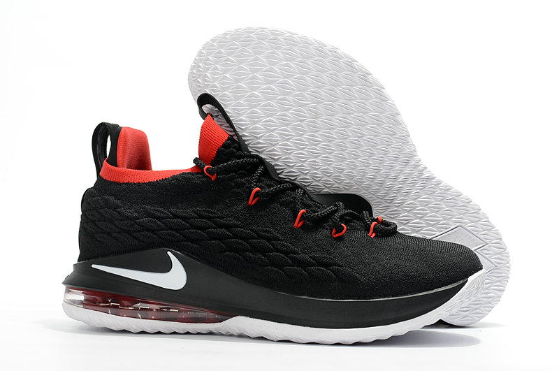 6db1c76f11a7d Wholesale Cheap Lebrons Nike Lebron 15 Low Black Red White -  www.wholesaleflyknit.com