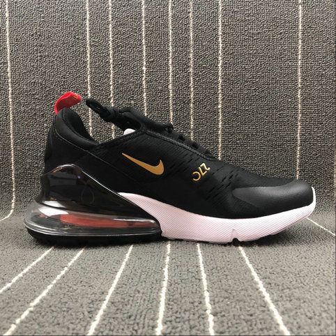sports shoes 43893 cf228 Cheap Wholesale Nike AIR MAX 270 Flyknit AH8050-117 Black Gold Noir On www.