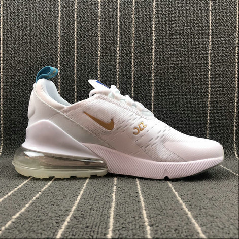 size 40 c7d6e f278c Cheap Wholesale Nike AIR MAX 270 Flyknit AH8050-119 White Gold Blanc On www.