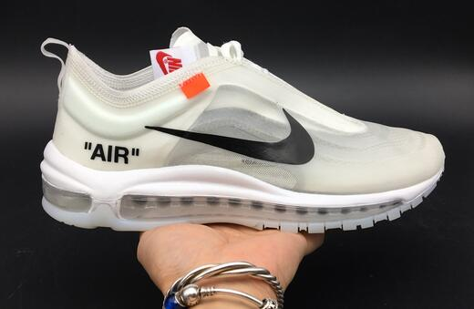 Wholesale Cheap NIKE OFF-WHITE x Nike Air Max 97 White For Sale - www.wholesaleflyknit.com