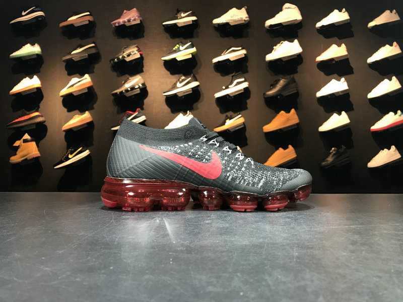 Wholesale Cheap Nike 2018 Nike Air 2018 Flyknit 849558 013 Grey Red Black - www.wholesaleflyknit.com