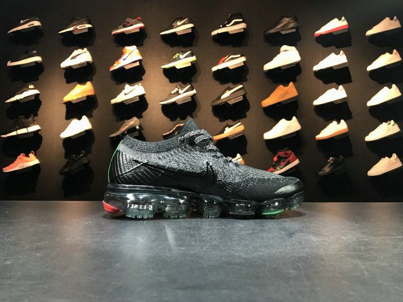 Wholesale Cheap Nike 2018 Nike Air 2018 Flyknit AQ0924 007 Cool Grey Black Red Green - www.wholesaleflyknit.com