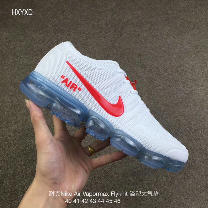 Wholesale Cheap Nike 2018 Nike Air 2018 Flyknit White Red Running - www.wholesaleflyknit.com