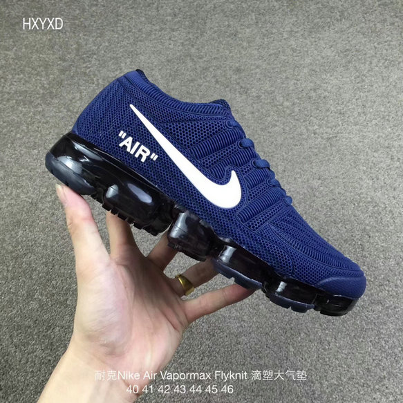 Wholesale Cheap Nike 2018 Nike Air 2018 Flyknit White Royal Blue Running - www.wholesaleflyknit.com