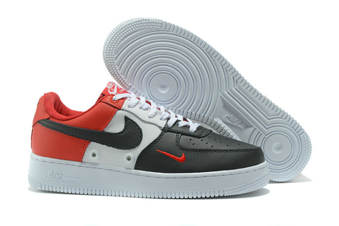 Wholesale Cheap Nike AF1 Mens Nike Air Force One Red White Black - www.wholesaleflyknit.com