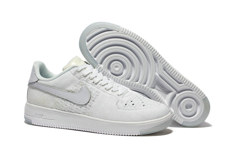 New 2018 Nike AF1 Cheap Wholesale x Nike Air Force 1 Low Ultra Flyknit White - www.wholesaleflyknit.com