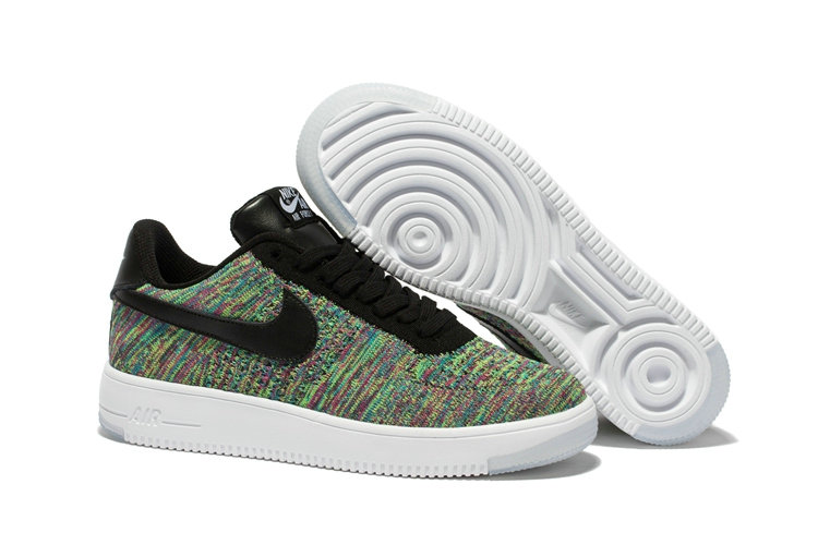 New 2018 Nike AF1 Cheap Wholesale x Nike Air Force 1 Ultra Flyknit Low in Black Multicolor - www.wholesaleflyknit.com