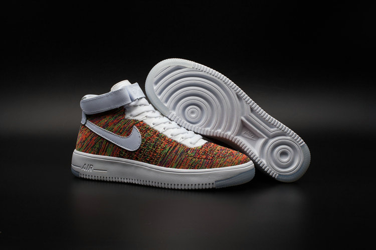 New 2018 Nike AF1 Cheap Wholesale x Nike Air Force One Ultra Flyknit Mid Multicolor - www.wholesaleflyknit.com