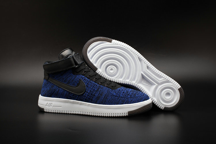 sale retailer 93d9e 520bb New 2018 Nike AF1 Cheap Wholesale x Nike Air Force One Ultra Flyknit Mid  Obsidian -