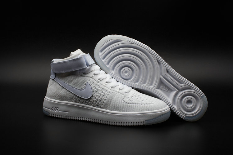 New 2018 Nike AF1 Cheap Wholesale x Nike Air Force One Ultra Flyknit Mid White - www.wholesaleflyknit.com