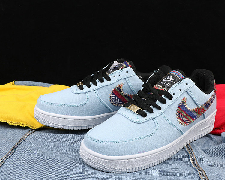 quality design c4f77 8ea06 Wholesale Cheap Nike Air Force 1 Cowboy national style Mens Blue White  Black - www.