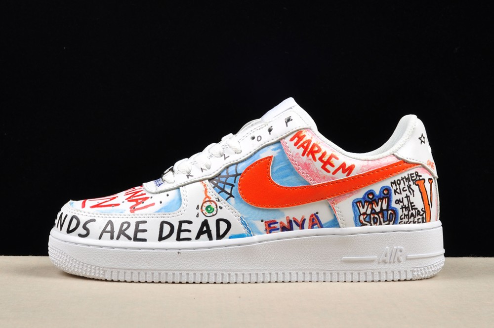 Wholesale Cheap Nike Air Force 1 Low Pauly Vlone Custom White For Sale - www.wholesaleflyknit.com