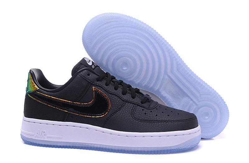 Wholesale Cheap Nike Air Force 1 low 07 AF1 Mens Black White Gold - www.wholesaleflyknit.com