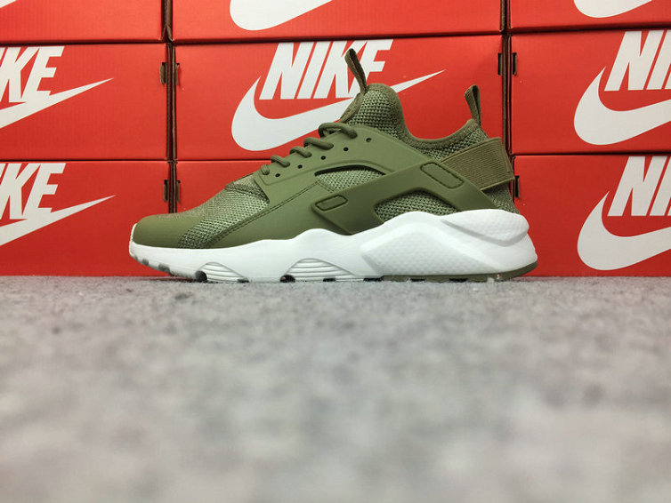 Wholesale Cheap Nike Air Huarache Ultra Run BR 833147-201 White Army Green - www.wholesaleflyknit.com