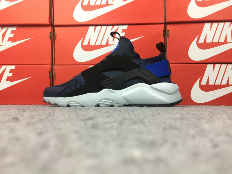 Wholesale Cheap Nike Air Huarache Ultra Run ID 787410-004 Black Blue White - www.wholesaleflyknit.com
