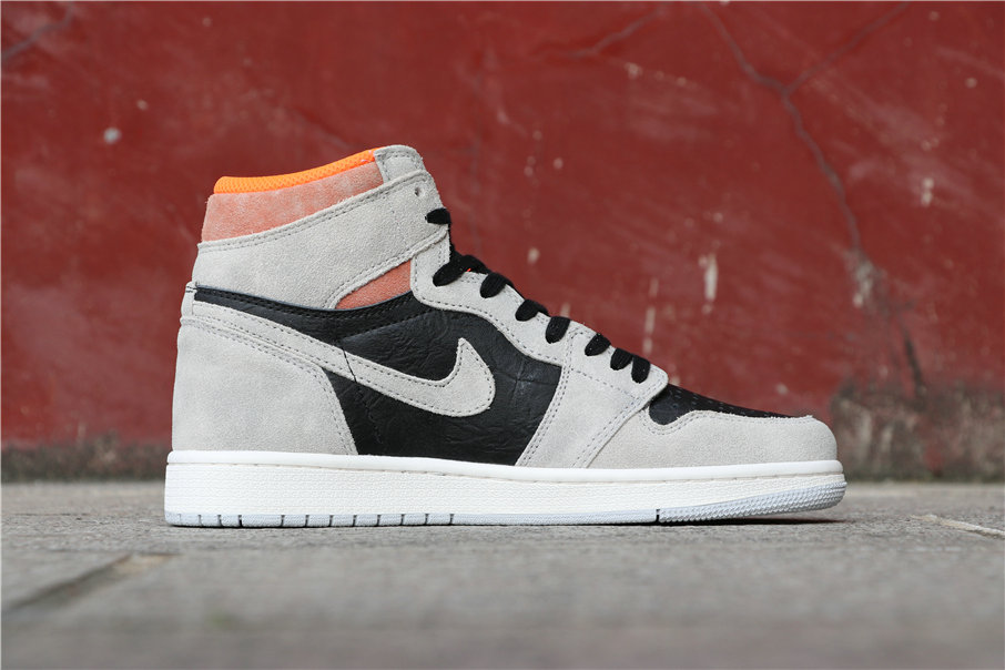 Cheapest Wholesale Nike Air Jordan 1 High OG Neutral Grey Hyper Crimson 555088-018 - www.wholesaleflyknit.com