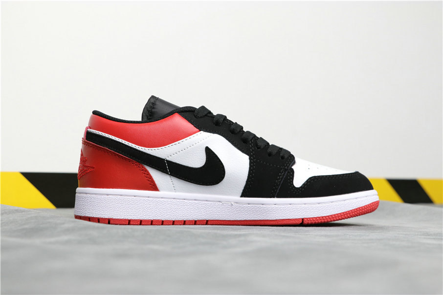 Cheapest Wholesale Nike Air Jordan 1 Low Black Toe New Black Toes New Noir Toes 553558-116 - www.wholesaleflyknit.com