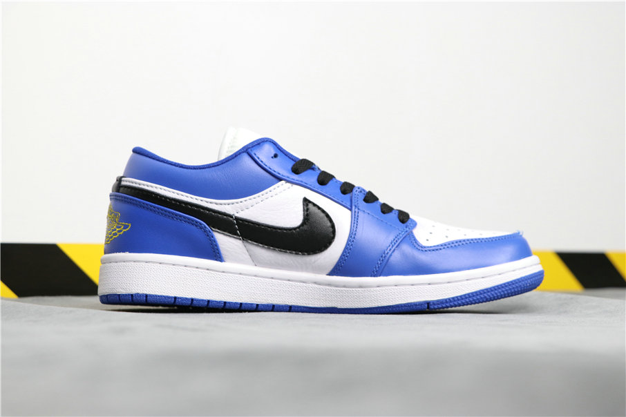 Cheapest Wholesale Nike Air Jordan 1 Low Hyper Royal Blue White Bleu Blanc 553558-401 - www.wholesaleflyknit.com