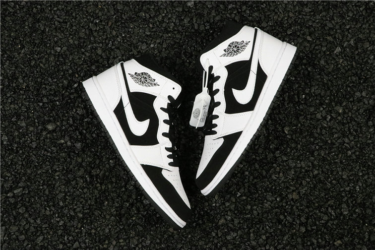 Cheapest Wholesale Nike Air Jordan 1 Mid Tuxedo White Black 554724-113 - www.wholesaleflyknit.com