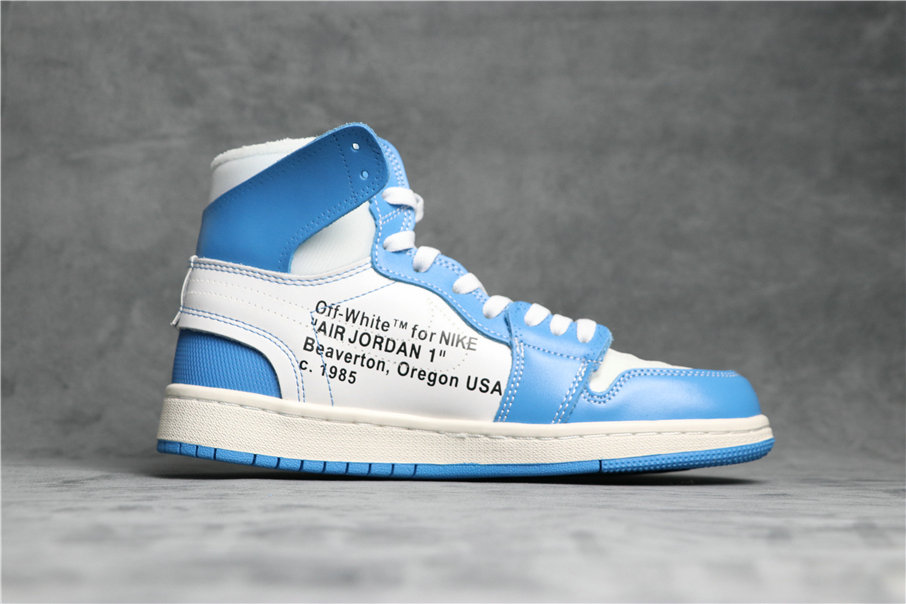 Cheapest Wholesale Nike Air Jordan 1 Nostalgic High NRG White Cone Dark Powder Blue AQ0818-148 - www.wholesaleflyknit.com