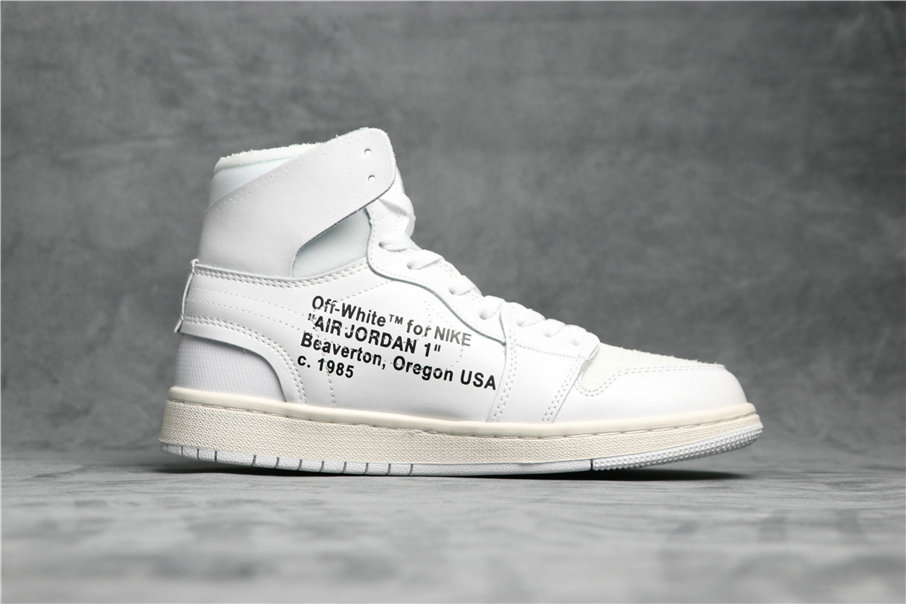 Cheapest Wholesale Nike Air Jordan 1 X Off-White NRG Off White AQ0818-100 Triple White - www.wholesaleflyknit.com