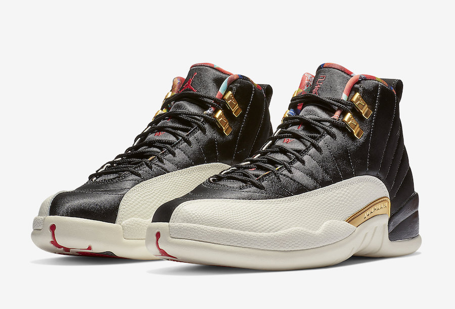 best sneakers 2cf59 7e59b Cheapest Wholesale Nike Air Jordan 12 Black Sail-Metallic Gold-True Red  Chinese New