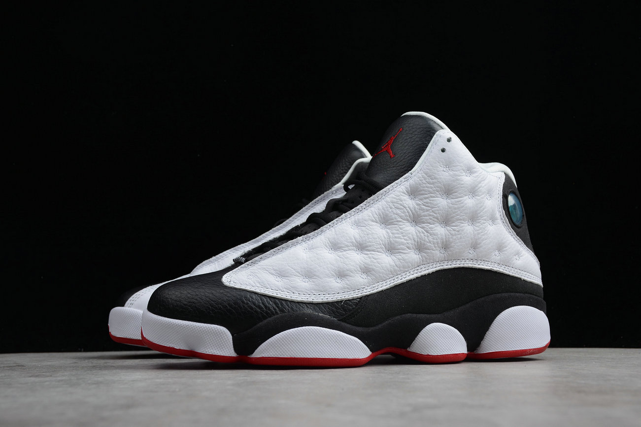Cheap Wholesale Nike Air Jordan 13 Retro 414571-104 White True Red Black Blanc Noir Vral Rouge- www.wholesaleflyknit.com