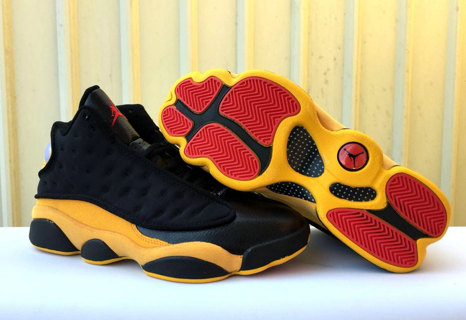 Cheap Wholesale Nike Air Jordan 13 Retro QS Black Yellow- www.wholesaleflyknit.com