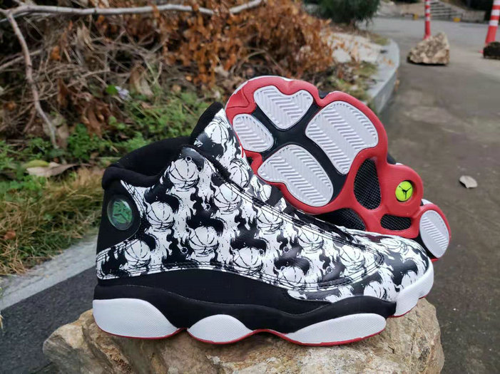 Cheapest Wholesale Nike Air Jordan 13 Tattoo Black Fire Red-Black-White - www.wholesaleflyknit.com