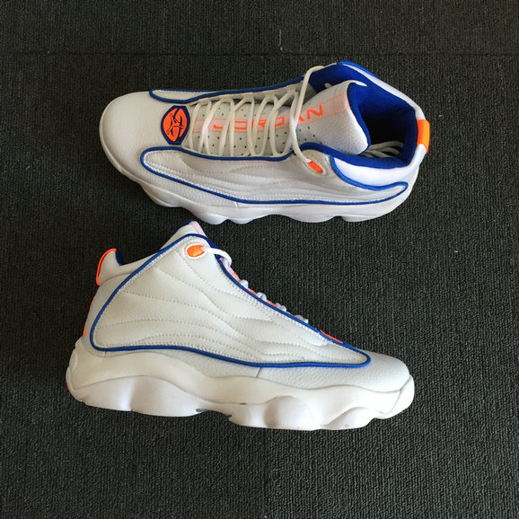 Cheap Wholesale Nike Air Jordan 13.5 Pro Strong White Blue Orange- www.wholesaleflyknit.com
