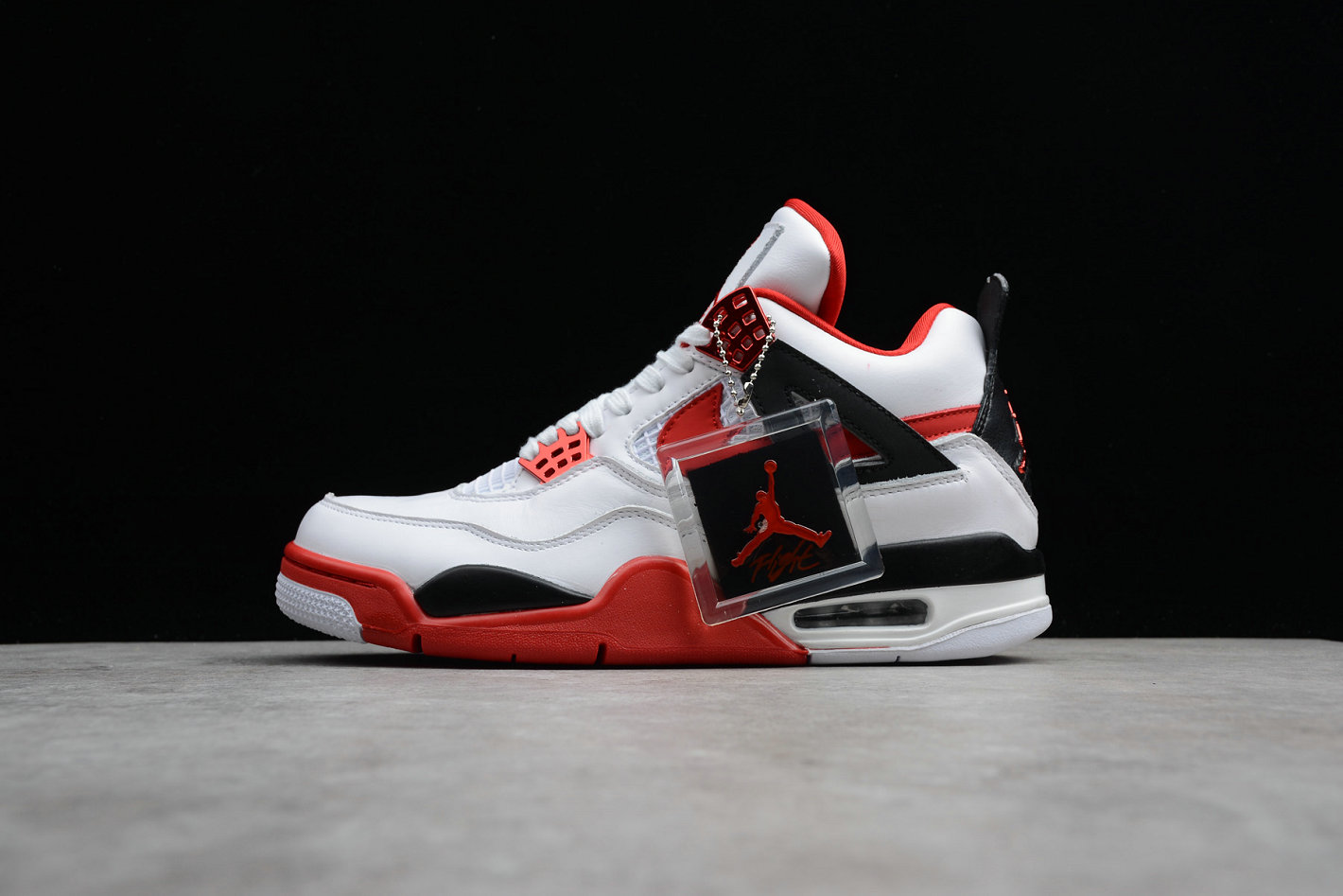 Cheap Wholesale Nike Air Jordan 4 Retro Fire Red 836011-107 Han Yubai Black Campus Red Noir Rouge- www.wholesaleflyknit.com