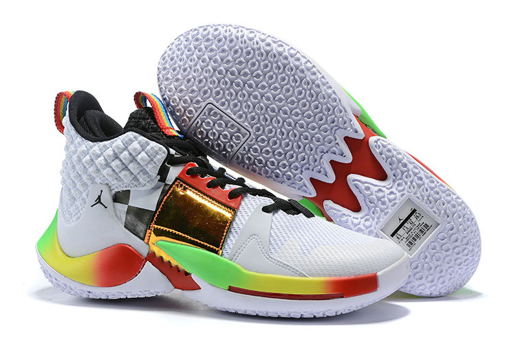 Cheapest Wholesale Nike Air Jordan Why Not Zer0.2 Be True Gold White Black Red Green - www.wholesaleflyknit.com