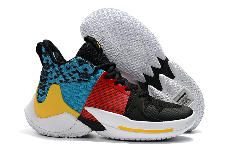 Cheapest Wholesale Nike Air Jordan Why Not Zer0.2 Fire Red White Black Blue Yellow - www.wholesaleflyknit.com