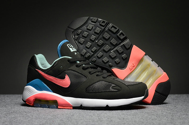 Wholesale Cheap Nike Air Max 180 Mens Blue Black Orange White - www.wholesaleflyknit.com