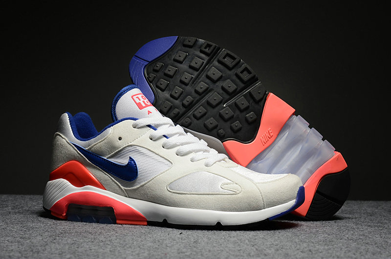 Wholesale Cheap Nike Air Max 180 Mens White Blue Orange Red - www.wholesaleflyknit.com