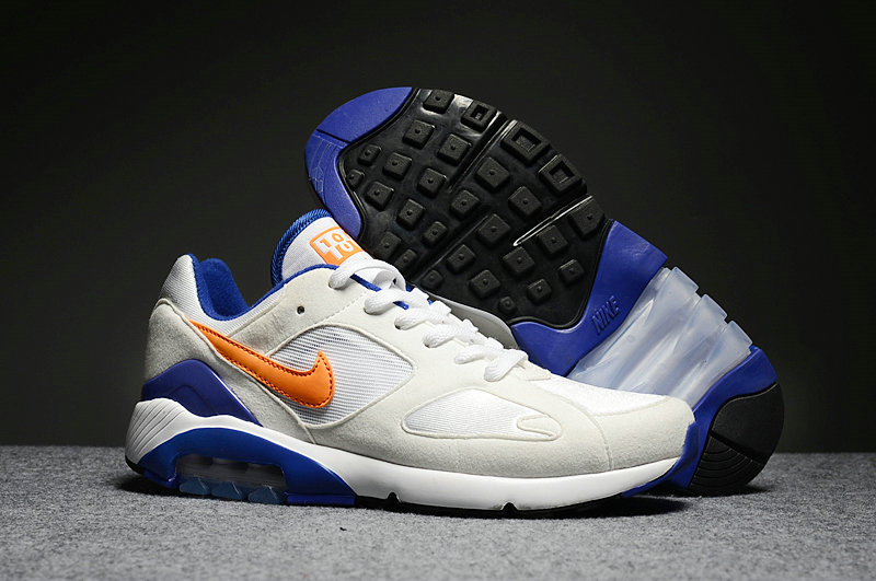 Wholesale Cheap Nike Air Max 180 Mens White Orange Blue - www.wholesaleflyknit.com