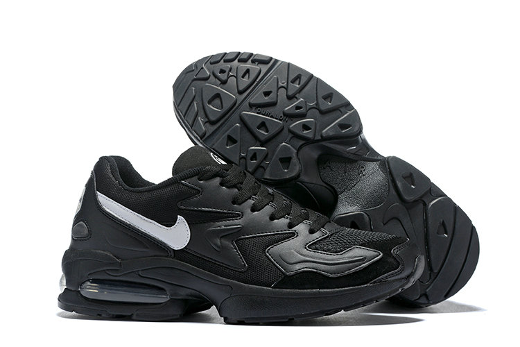 Cheap Wholesale Nike Air Max 2 Light Black White- www.wholesaleflyknit.com